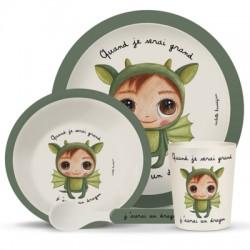Coffret vaisselle de table pour enfant : J'aurai un dragon