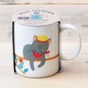 Ceramic mug with plant to grow
