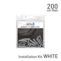 Jeu de montage pour cimaises Classic Rail couleur blanc