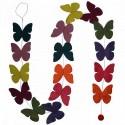 butterfly paperchain in lokta paper