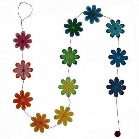 Guirlande de fleurs en papier Lokta