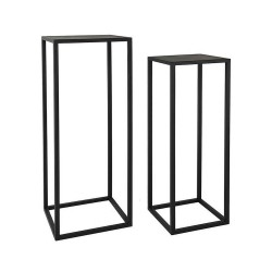 2 Sellettes design noir métal