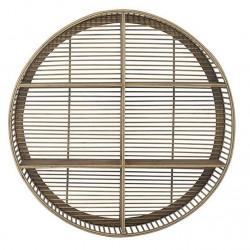 Etagère ronde bambou naturel