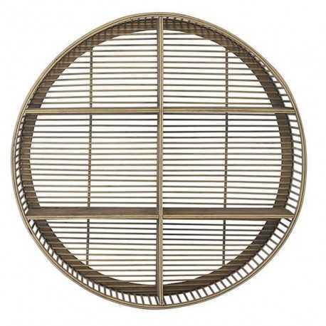 Natural bamboo round shelf