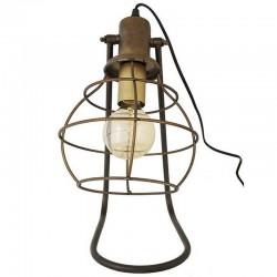Lampe industrielle 36 cm à poser en métal foncé