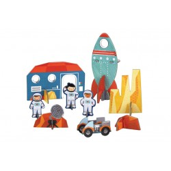 Pop-Out to play in Space, assembly game