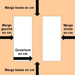 Passe-partout Crescent avec 2 ouvertures carrés, rectangulaires