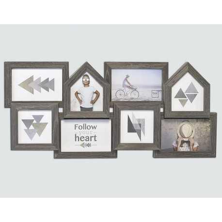 Cadre pour 8 photo multivues 10x15 et 10x10