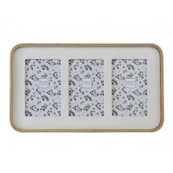 Multiview wood picture frame for 3 pictures 10x15