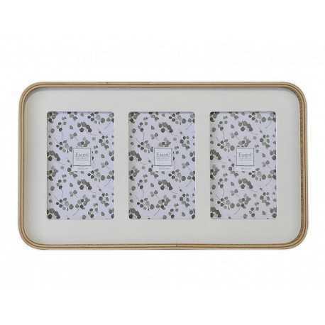 Cadre photo multivues bois pour 3 photos 10x15