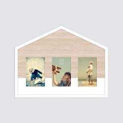 Cadre photo maison multivues avec 3 vues 10x15