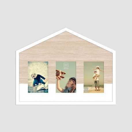 Multiview house photo frame with 3 views 10x15