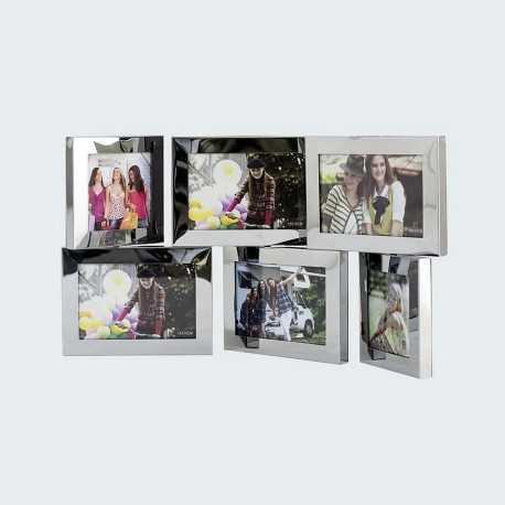 Cadre photo multivues pivotantes pour 6 photo 10x15