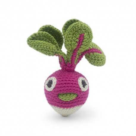 Rattle for newborn, Gigi mini radish