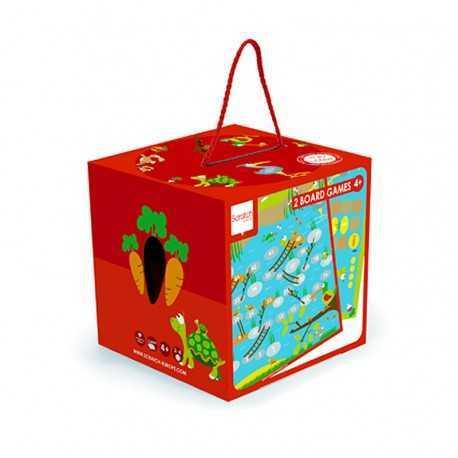 2 jeux de plateaux jardin enfant, jeu d'échelle et Ludo