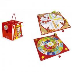 2 jeux de plateaux Cirque, jeu de l'oie et Ludo & co