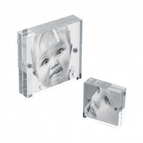 Cadre photo acrylique transparent