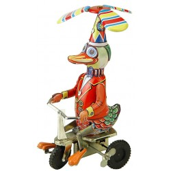 Toy, Duck with propeller on bike
