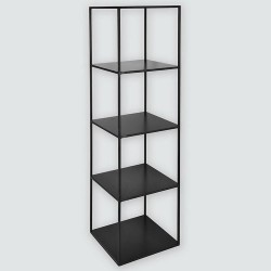 Etagère design noir métal avec 5 plateaux