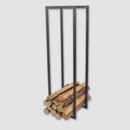 Elégant meuble pour bûches de bois