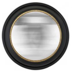 Miroir noir rond et convex grand format