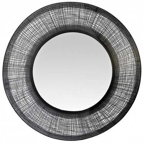 Round black and convex mirror large format