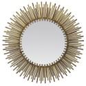 Miroir soleil doré grand format effet tubes