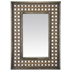Miroir bois métal style industriel