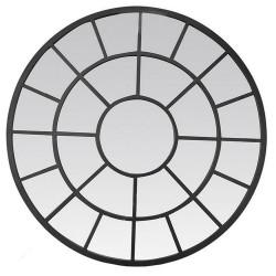 Large wired round mirror
