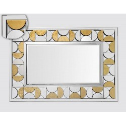 Art Deco mirror gold silver large format