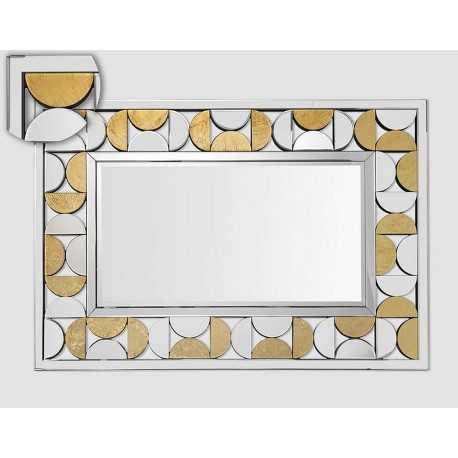 Large rhinestone jewel mirror
