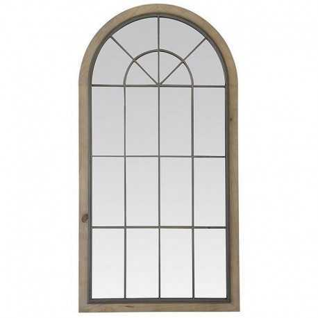 Miroir basile bois & métal
