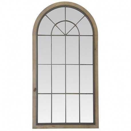Wood & metal basil mirror