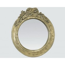 Round mirror with champagne rose