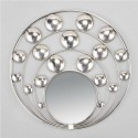Round mirror in circles with metal circles