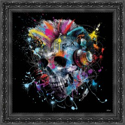 Skull painting by Sylvain Binet