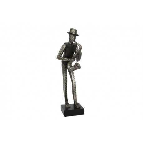 Sculpture, saxophonist statue