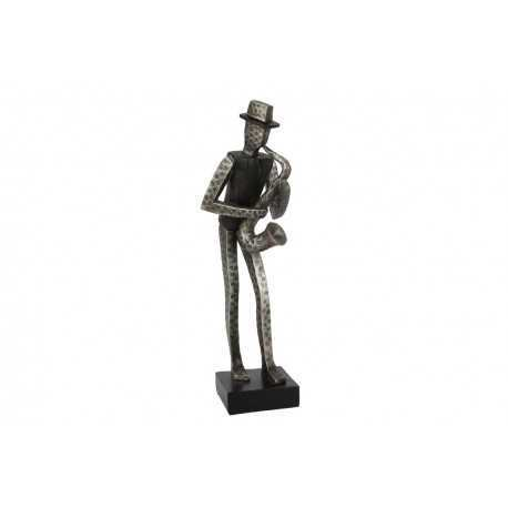 Sculpture, statue saxophoniste