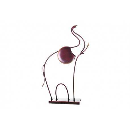Sculpture, statuette d'éléphant rouge patiné