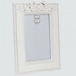 Photo frame with white laurel bow