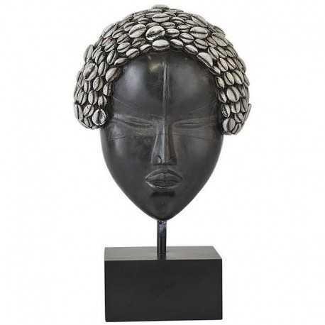 Tête afro sur socle