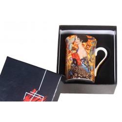 Lady with a fan mug by Gustave Klimt