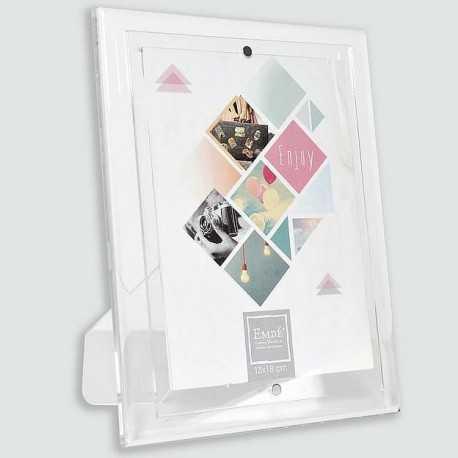 Magnetic plexiglass photo frame 15x20 cm format
