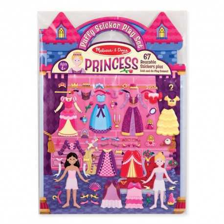 Repositionable relief stickers, the princesses