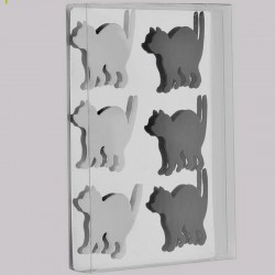 6 Aimants magnets en forme de chat