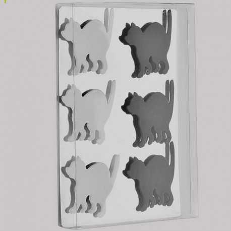 6 Aimants magnets en forme de chat
