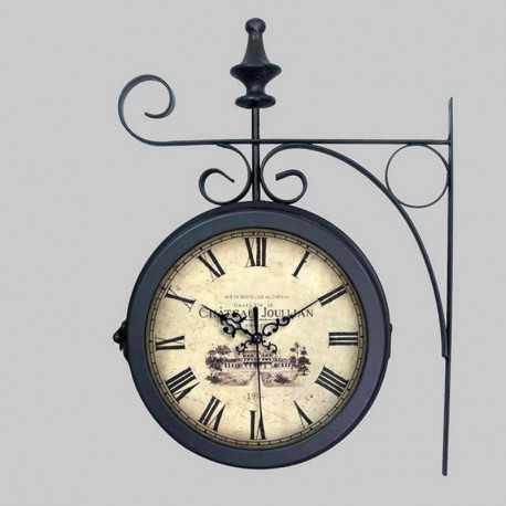 Horloge double en métal