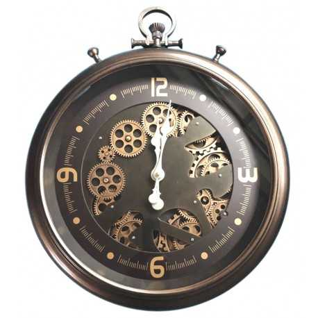 Gusset clock with gears