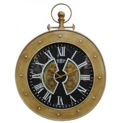 Horloge gousset à engrenages style marine