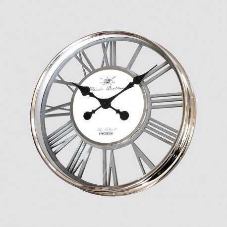Horloge métal chromé ajouré